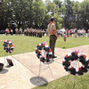 Memorial Day service conducted by Boy Scout Troop 301 at Maplewood Cenetery.