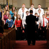 """Indiana Christian Academy Secondary Choir sings """"Here I Am, Lord"""" during graduation on Friday."""