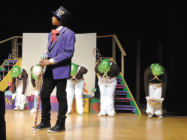 "Edwin ""Freddie"" Rosado plays Willy Wonka in the Highland Jr. High production of ""Willy Wonka Jr."""