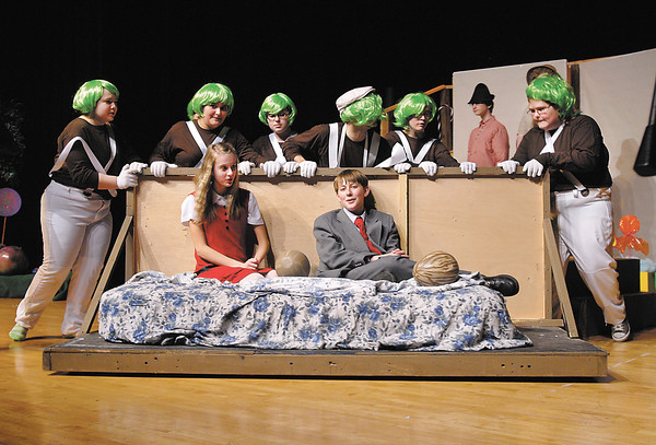 """Highland Jr. High School  students are putting on the  play """"Willy Wonka Jr."""" this weekend."""