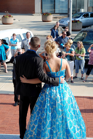 In front of the Anderson Center for the Arts, family and friends gathered to take pictures of the Liberty Christian School students as they headed into their formal dinner.