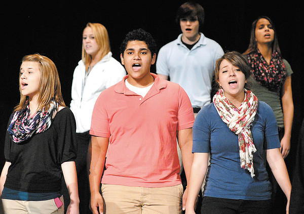 Anderson High School choir members go through rehearsals Tuesday for their upcoming first-ever variety show.