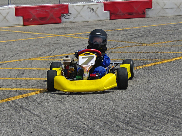 P. J. Eicher in action on the track.