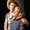 "Daniel Wohlberg as Curly sings to Jessica Cookston as Laurey in ""Oklahoma!""  The production runs this weekend and next at Anderson's Mainstage Theatre, 124 W. Ninth Street."