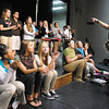 Julie Wood, Anderson High School choir director, gives directions during rehearsals Tuesday for their upcoming first-ever variety show.