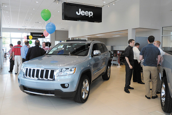 Several people turned out as Ed Martin held the grand opening for their new Chrysler dealership in Anderson on Thursday. The facility will sell and service Chrysler, Dodge, Jeep and Ram vehicles.