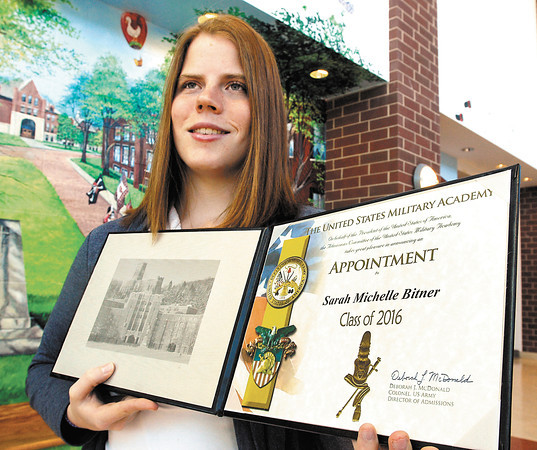 AHS senior Sarah Bitner accepted into West Point.