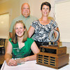Red Haven Award winner, Abbigail Haffner of Pendleton Heights High School with her parents Randy and Lynn Haffner.