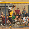 Shenandoah catcher Taylor Goyette makes a nice catch on a pop up in foul territory