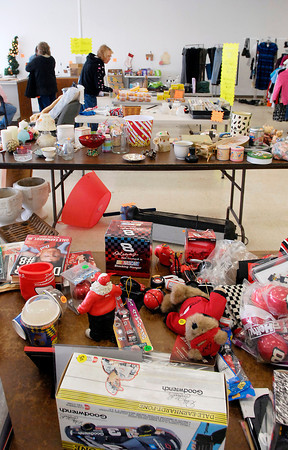 John P. Cleary | The Herald Bulletin<br /> The Little 500 Festival Cross Street Pay Less Rummage Sale started Thursday and will run through Saturday in the Cross Street Shopping Plaza.