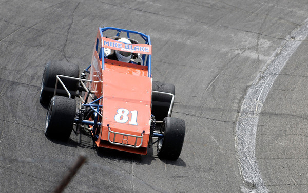 Don Knight | The Herald Bulletin<br /> Danny Smith prepares to qualifies for the Pay Less Little 500 on Thursday. This is Smith's return to the race after 35 years.