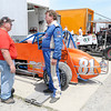 Don Knight | The Herald Bulletin<br /> Danny Smith, right, talks to car owner Mike Blake before qualifying for the Pay Less Little 500 on Thursday. This is Smith's return to the race after 35 years.
