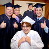 John P. Cleary | The Herald Bulletin<br /> The Indiana Christian Academy Class 0f 2014 show their excitement to be graduating Friday evening before the Commencement Service started. The graduates are Aleasha Atkinson, front, then L to R are Dakota Stevens, Zachary Tuer, Thomas Pavelka, and Aaron Martin.