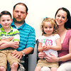John P. Cleary | The Herald Bulletin<br /> The Watson family, Jay and Amber Watson with son Isaac 7, and daughter Hannah, 3.
