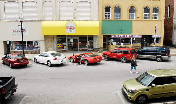 John P. Cleary | The Herald Bulletin<br /> Shots of downtown Anderson for business story.