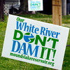 John P. Cleary | The Herald Bulletin<br /> Signs against the proposed Mounds Reservoir on east 17th Street in the Irondale neighborhood.