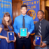 John P. Cleary | The Herald Bulletin<br /> The Anderson Rotary Club Sportsmanship Awards overall winners for this year were Hillary Foreman of Liberty Christian, Zach Abbott of Anderson, and D'Andre Patterson of APA.