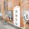 Don Knight | The Herald Bulletin<br /> Graffiti downtown in the alley between Meridian and Jackson Streets. To view or buy this photo and other Herald Bulletin photos, visit heraldbulletin.smugmug.com.