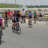 Riders in the Anderson CycloFemme Mother's Day Bicycle Ride set off from Hoosier Park.
