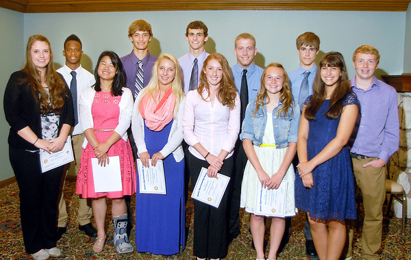 John P. Cleary | The Herald Bulletin<br /> The Anderson Rotary Club Sportsmanship Awards winners from Liberty Christian.