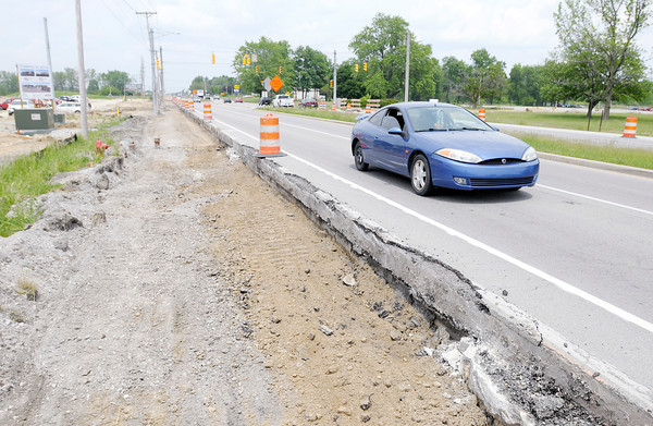 Don Knight   The Herald Bulletin<br /> The city is investing $1.5 million to match a U.S. Economic Development Administration grant needed to complete more than $3 million in infrastructure along Scatterfield Road.