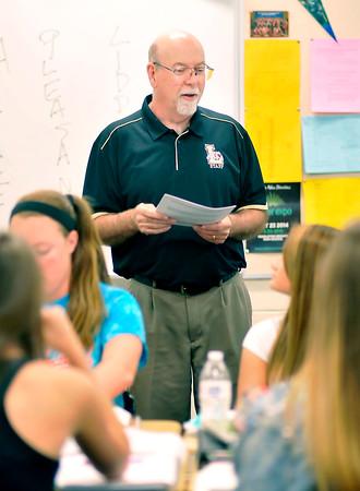 John P. Cleary | The Herald Bulletin<br />   Lapel High School English teacher Jerry Kemerly, winner of the Max Beigh Enriching Education Award.