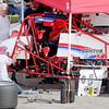 Don Knight | The Herald Bulletin<br /> Contos racing works on the number 4 car after driver Shane Cottle tangled with Tom Paterson in Turn 1 during the practice session before qualifying. Cottle didn't make a qualifying attempt.