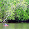 John P. Cleary | The Herald Bulletin<br /> Cooler temperatures and light rain didn't stop this kayaker from getting out and paddling around Shadyside Lake Tuesday. Warmer and brighter days are forecast for the next several days.