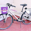 Don Knight | The Herald Bulletin<br /> An example of a bike from the Community Bikes bike sharing program on display at The Christian Center. Buckskin Bikes will be training residents at The Christian Center how to repair and maintain the bikes.