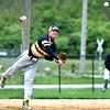 Chris Martin | for The Herald Bulletin <br /> Shenandoah Third Baseman throws an Alexandria batter out at first.