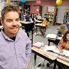 John P. Cleary | The Herald Bulletin<br /> Valley Grove Elementary 4th grade teacher J.T. Morgan in his classroom.<br /> Morgan was named the elementary Max Beigh Enriching Education Award winner.