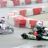 Don Knight | The Herald Bulletin<br /> After following his sister Kylan McFall for 14 laps Carter McFall (16) passes her for the checkered flag in the Junior 1 division at the Mayor's Cup Grand Prix on Saturday.