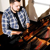 Don Knight   The Herald Bulletin<br /> Layke Jones, a music business major, will be graduating from Anderson University on Saturday. Jones credits his teachers at Anderson Community Schools for inspiring him to pursue a music career.