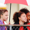 Don Knight | The Herald Bulletin<br /> From left, Cydney Slavon, Amaani Welch and Ariahna Hudson cheer for their teammate Staisha Hamilton during the 100 meter dash prelims at the girls track sectional at Pendleton Heights on Tuesday. Read about the results on today's B1 and view more photos online at heraldbulletin.smugmug.com.