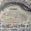 John P. Cleary | The Herald Bulletin<br /> This is a map of the traffic pattern at Athletic Park for this Saturday's J.T. Menifee Citywide Cleanup.