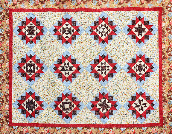 John P. Cleary | The Herald Bulletin<br /> This is the quilt that will be raffled off during the RedBud Quilt Guild's biennial quilt show.