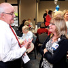 John P. Cleary   for The Herald Bulletin<br /> The reception line was long for retiring chief financial officer Don Apple of St. Vincent Anderson Regional Hospital this past Monday as he leaves after 42 years of service to the hospital.