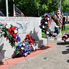 John P. Cleary | The Herald Bulletin<br /> Representatives from different veterans organizations place wreaths in remembrance during the Memorial Day observance ceremony at Anderson City Building.