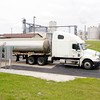 Don Knight | The Herald Bulletin<br /> A truck prepares to depart POET Biorefining northeast of Alexandria after filling up with a load of ethanol. A truck can carry 8,000 gallons and the plant produces 6 million gallons a month on average.