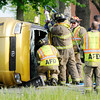 Don Knight | The Herald Bulletin<br /> Accident on 38th Street Wednesday evening.