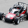 Don Knight | The Herald Bulletin<br /> New Castle driver Caleb Armstrong captures the pole for the Little 500 with a four lap time of 44.281 seconds during qualifying on Thursday.