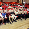 John P. Cleary | The Herald Bulletin<br /> John Meeks of the United States War Dog Association speaks to Anderson High School students Thursday about the history of  K-9s in warfare.  AHS's NJROTC hosted the event.