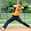 Chris Martin | for The Herald Bulletin <br /> Chet Maynard pitches for Alexandria against Shenandoah in the 1st game of a double header.