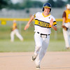 Don Knight | The Herald Bulletin<br /> Shenandoah's Tyler James rounds third headed for home as he is batted in on a double by Cody Rudy as the Raiders faced Monroe Central in the first round of the sectional at Frankton on Wednesday.