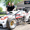 Don Knight | The Herald Bulletin<br /> Traci and Jason Goacher, owners of Goecher racing, have been fielding Little 500 cars since the 80s and are looking to defend their title after winning last year's race with driver Chris Windom.
