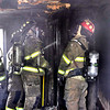 John P. Cleary | The Herald Bulletin<br /> Garage fire in the 2000 block of Pearl Street.