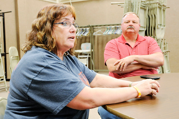 Don Knight   The Herald Bulletin<br /> Cindy and Zane Kennedy talk about their son, Jordan Bush, who took his own life in 2009. In the years since the Kennedy's have held a charity motorcycle ride in his memory.