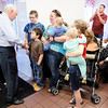 Don Knight | The Herald Bulletin<br /> Gov. Mike Pence and Lt. Gov. Eric Holcomb made a campaign stop at Good's Candy Shop on Thursday.