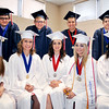 John P. Cleary | The Herald Bulletin<br /> These nine seniors make up the 2016 class of Indiana Christian Academy that held their graduation exercises Friday evening. The graduates are L to R front row: Bethany Thomas, Abby Thomas, Iryna Bower, Laurynne Campbell, and Shelby McClure. Back row: Vincent Owen, Desmond Christoff, James Hutchins, and Zachary Metzger.