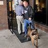 John P. Cleary | for The Herald Bulletin<br /> A bomb threat was called into the Madison County Government Center about 12:45 p.m. Monday. Police searched the building with K-9's and found nothing.